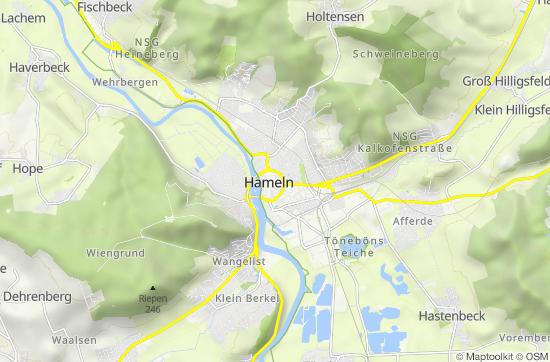 Hameln Karte.Hameln Perle Des Weserberglandes