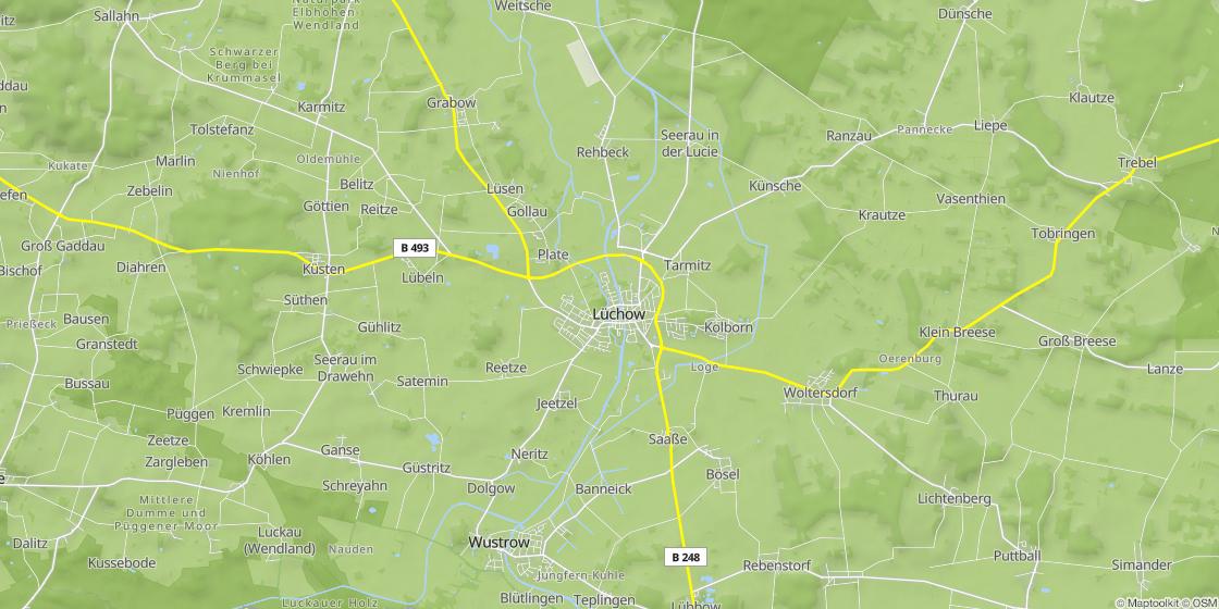 Kulturelle Landpartie Karte.Naturpark Elbhohen Wendland
