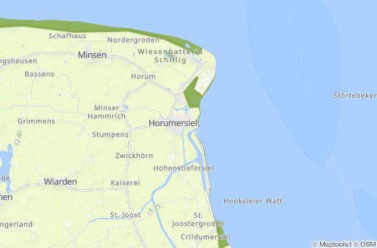 Nordsee Karte Niedersachsen.Nordsee