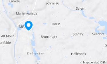 Karte der Region um Schulsee Mölln