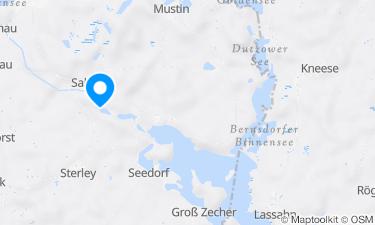 Karte der Region um Salemer See Campingplatz