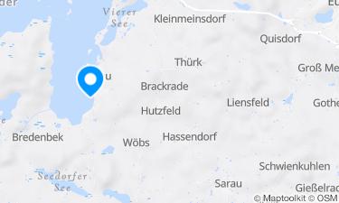 Karte der Region um Bosauer Badestrand
