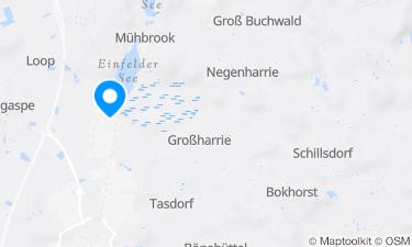 Karte der Region um Einfelder See, Dorfbucht