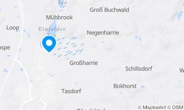 Karte der Region um Einfelder See, Minigolfplatz