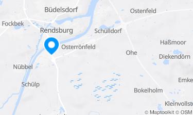 Karte der Region um Badeanstalt Westerrönfeld