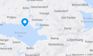 Karte der Region um Selenter See, Pülsen