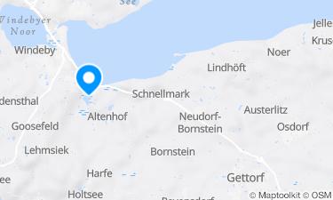 Karte der Region um Südstrand Eckernförde