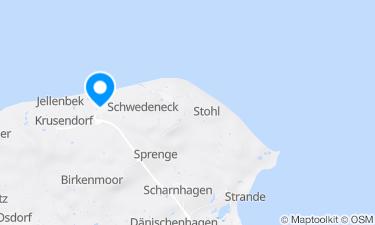Karte der Region um Kurstrand in Surendorf an der Ostsee