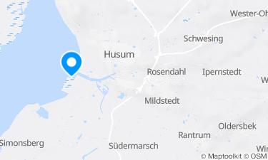 Karte der Region um Husum Dockkoogspitze