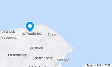 Karte der Region um Badestelle Eckernholm, Hohenhain an der Ostsee