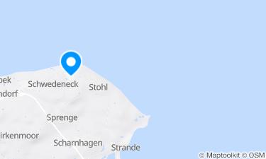 Karte der Region um Badestelle Dänisch-Nienhof an der Ostsee