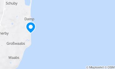 Karte der Region um Badestelle Fischlegerstrand an der Ostsee