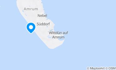Karte der Region um Amrum, Süddorf