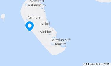 Karte der Region um Amrum, Nebel