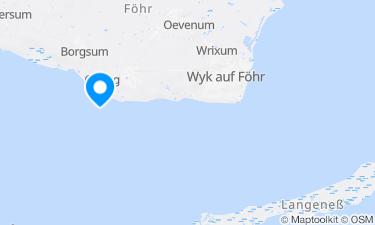 Karte der Region um Strand Nieblum und Nieblum Goting
