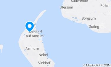 Karte der Region um Amrum, Norddorf