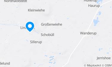 Karte der Region um Badesee Lindewitt