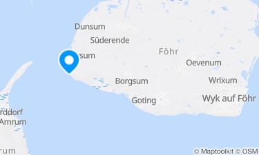 Karte der Region um Strand Utersum