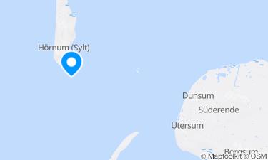 Karte der Region um Hörnum Oststrand