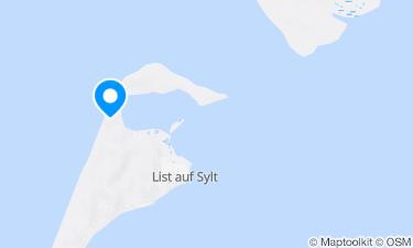 Karte der Region um List-West Textil Weststrand