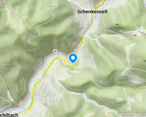 Luftaufnahme Burgruine Schenkenzell